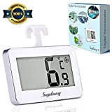 Refrigerator Thermometer SUPLONG Digital Waterproof Thermometer Easy Readable LCD Display Reading Perfect for Indoor Outdoor Home Restaurants Bars Cafes