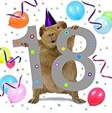 Meerschweinchen Karte - 18th Birthday -Geburtstagskarte