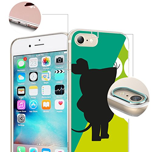 FINOO | Iphone SE Silikon-Handy-Hülle | Transparente TPU Cover Schale | Tasche Case mit Slim Rundum-schutz | stoßfester dünner weicher Bumper | Sendung mit der Maus Motiv | Maus schwarz Maus grün