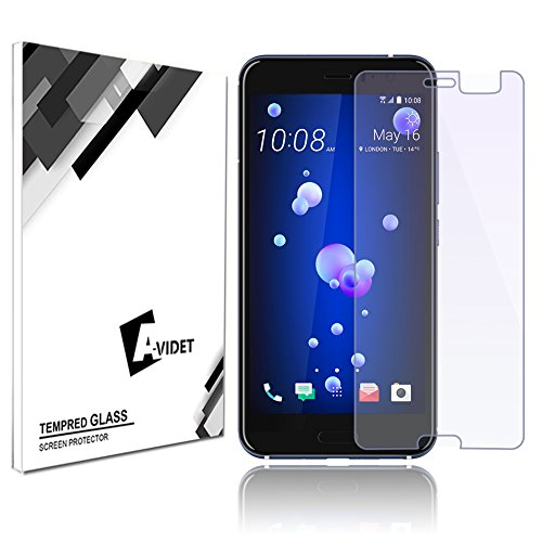HTC U 11 Pellicola Protettiva, AVIDET Premium - Pellicola protettiva per Display in Vetro Temperato per HTC U 11