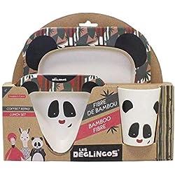 Coffret Repas Bambou Rototos Le Panda - LES DEGLINGOS