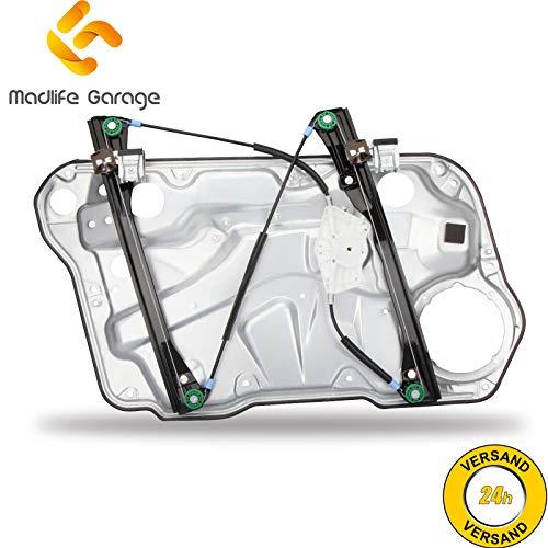 Madlife Garage 1J4837462H Elektrisch Fensterheber mit Metallplatte ohne Motor Vorne Rechts Golf IV 1J1 1J5