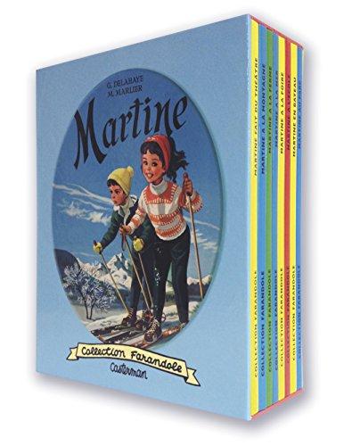 Martine : Coffret 8 volumes : Martine fait du théâtre ; Martine à la montagne ; Martine à la ferme ; Martine à la mer ; Martine à la foire ; Martine à l'école ; Martine en bateau ; Martine au parc