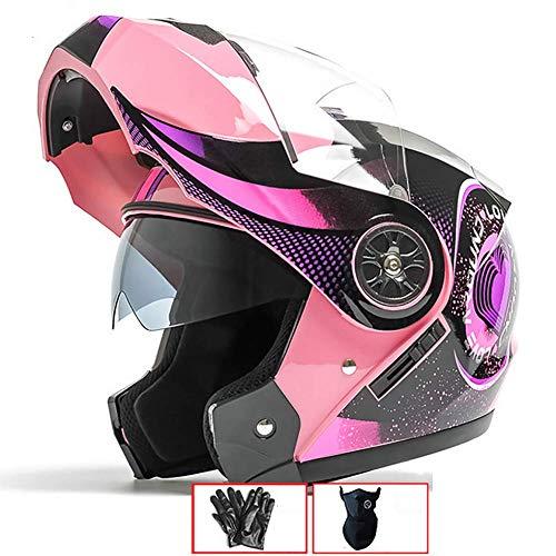 LALEO Ajustable Personalidad Grafiti Casco Moto Modular Integral Casco Moto Abierto, para...