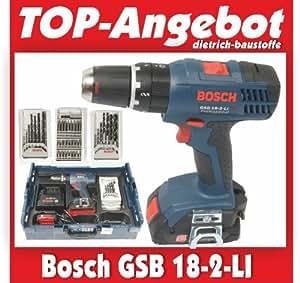 39 bosch gsb 18 2 li pistol grip drill lithium ion li ion 1 3 ah 1500 g black blue red. Black Bedroom Furniture Sets. Home Design Ideas