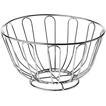 premier housewares wire fruit basket 24 cm chrome