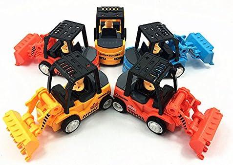 LanLan Cadeau de Noël 10 Pcs Inertial Mini Inertial Pcs Ingénierie Véhicules Jouets Ensemble Couleur Assortie Pull Back Digger/Forklift / Bulldozer Jouet Cadeau 0e1003