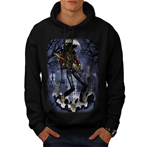 musician-skeleton-cemetery-music-men-new-black-xl-hoodie-wellcoda