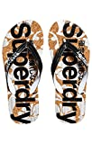 Superdry Damen Printed Cork Zehentrenner, Multicolore (Black/Optic White J40), Small