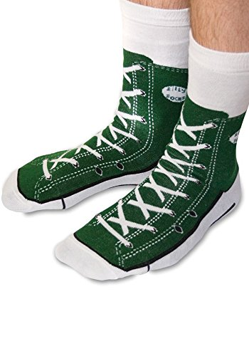 ken - Silly Socks im Sneakers Turnschuhe Stil (Grün) (Halloween-socken)