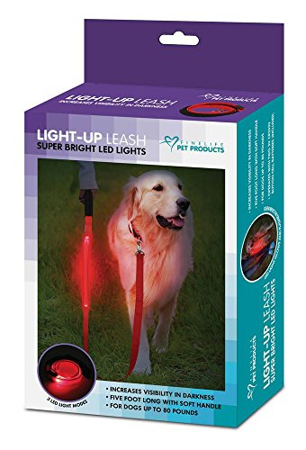 Dog Running Leine, Metall Rot groß Walking Hund mit Leine LED-Licht-5ft -