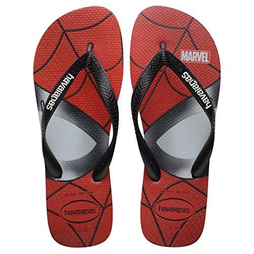 Havaianas TOP Marvel 0090 schwarz Schwarze rote Hausschuhe für Kinder Flip-Flops aus Gummi 27-28