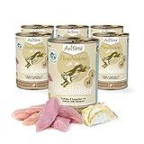 AniForte Katzenfutter Wild Rabbit 6 x 400g für Katzen, Nassfutter ohne künstliche Vitamine und chemische Zusätze
