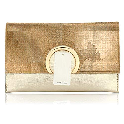 HT Party Handbag, Damen Clutch, Party Handbag, gold, Party Handbag