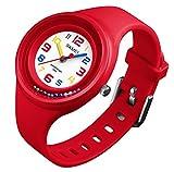 Jungen Mädchen Uhren Armbanduhren, 2018 Ball Spiel am Handgelenk Super Soft Band Student Alter 11-15 7-10 Armbanduhren Jugendliche Mädchen Jungen Kinder Kinder(Rot)
