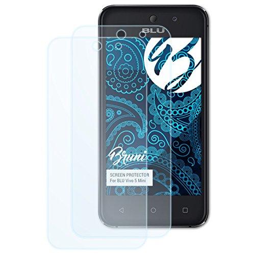 Bruni Schutzfolie für BLU Vivo 5 Mini Folie, glasklare Bildschirmschutzfolie (2X)