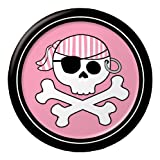 Creative Converting Pirate Parrty Girl Round Dessert Plates - Best Reviews Guide