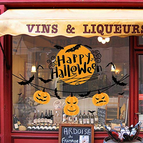 Kostüm Clown Groß Spaß Kind Top - QinMM W Halloween Dekoration,Happy Halloween Hintergrund Wandaufkleber Fenster Dekoration Abziehbild Dekor