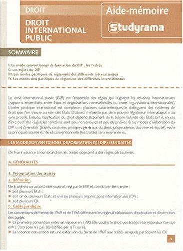 Droit international public par Christophe Sinnassamy