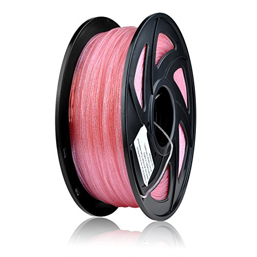 SIENOC 1 Packung 3D Drucker TwingKling 1.75mm Printer Filament - mit Spule 1kg (TG TwingKling Pink)