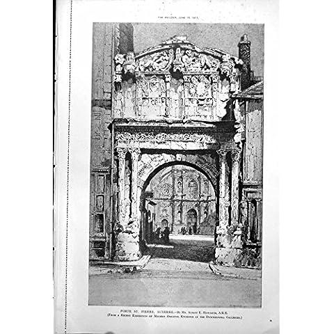 Imprima la Casa Bristol de Porte St Pierre Auxerre AE Howarth Southey 1917 583RL211