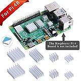 GeeekPi 8PCS Dissipatori di Calore per Raspberry Pi 4 Modello B, Raspberry Pi 4B Dissipatori di Alluminio con Nastro Adesivo Conduttivo Termico per Raspberry Pi 4B (Raspberry Pi Non è Inclusa)