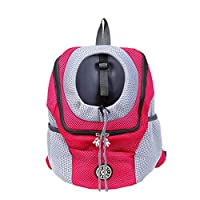 Asusual Pet Carrier Backpacks Outdoor Double Shoulder Bag Fashion Backpack Pet Travel Shopping Camping