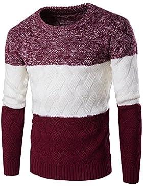 HY-Sweater El Otoño y el Invierno EN Europa Y LOS Estados Unidos Mode Pull Grueso Chandail Pull Décontracté, Wine...