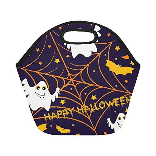 unchpaket-Feiertag am Thema Halloween-große wiederverwendbare thermische starke Mittagessen-Einkaufstaschen für Brotdosen für draußen, Arbeit, Büro, Schule ()