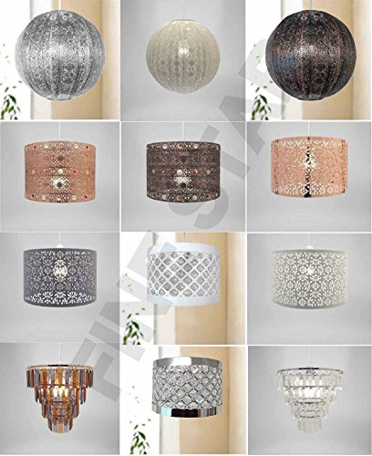 Chandelier-Chic-Ceiling-Light-Pendant-Shade-Crystal-Droplet-Fitting-Easy-Fit