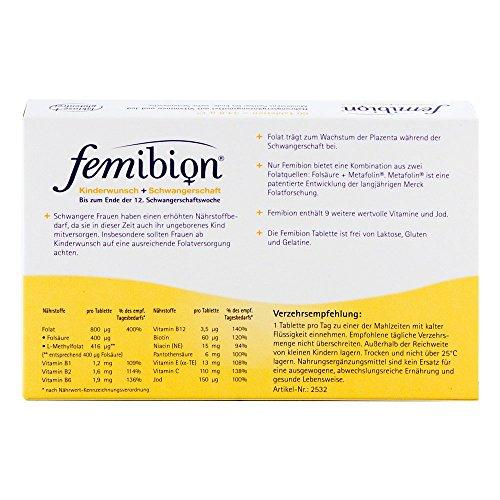 FEMIBION Schwangerschaft 1 800 µg Folat Tabletten 60 St Tabletten - 2