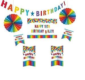 Amscan 241144Primaria Rainbow de cumpleaños-Kit Decoración de puerta personalizable
