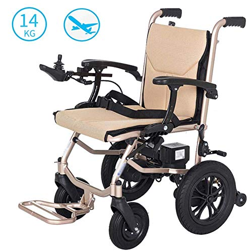XINTONGDA Faltbare elektrischer Stuhl, geringes Gewicht, 14kg, 360 ° Joystick Lithium-Batterie, Elektromobil Stuhl, leichte Roller, tragbare ältere behinderte Hilfe
