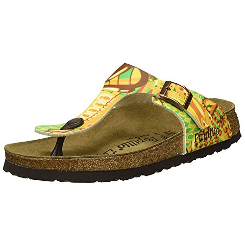 Papillio Womens by Birkenstock Gizeh Synthetic Sandals African Wax Gold