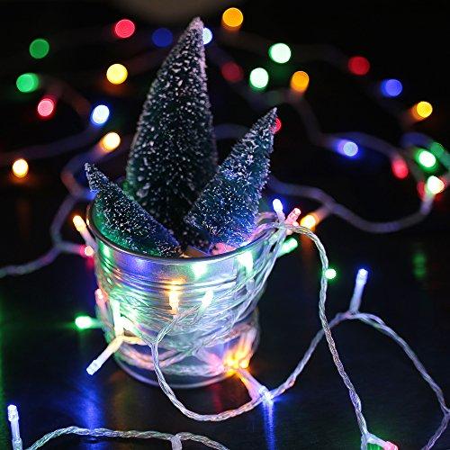 HJ® 400 LEDs 40M RGB LED Lichterkette Weihnachtslichterkette 31V String Außenlichterkette für Xmas Halloween innen&außen Garten