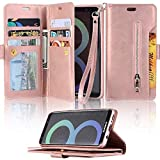 LAPOPNUT for Samsung Galaxy A5 2017 Wallet Case PU Leather