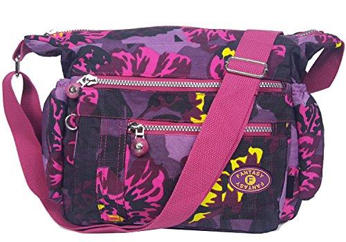 GFM Fashion, Borsa a tracolla donna Small Style 1 - Peony (LLPNY)