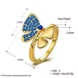 Anillo de Diamante Azul Ambiental , oro , 8