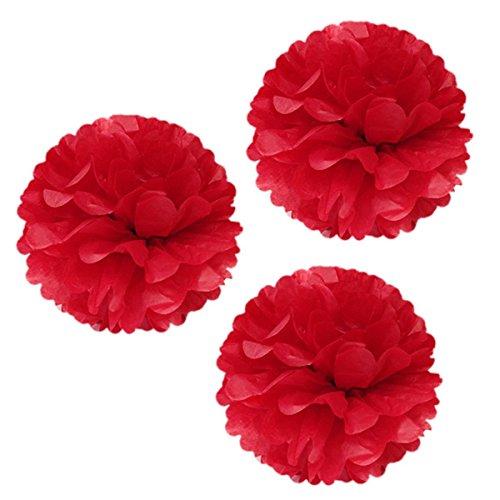 s-shine 40,6cm Poms großes flauschig Pom Pom Aufhängen Dekoration Seidenpapier Pom Blumen für Feiern Dekoration flauschig Hängelaterne Party/Hochzeit Blüten Ball