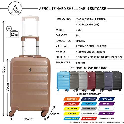 Zoom IMG-2 trolley aerolite abs bagaglio a