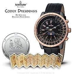 "Kronsegler ""Codex Dresdensis"" Maya Calendar Watch PVD - black"