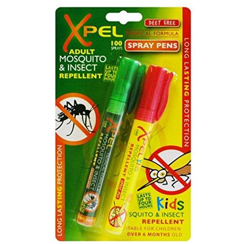 XPEL Adultos & Niños Tropical Formula Mosquito & Repelente De Insectos Bolígrafos