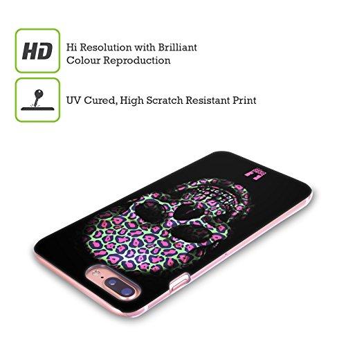 Head Case Designs Tigre Teschi Animali Stampe Cover Retro Rigida per Apple iPhone X Giaguaro
