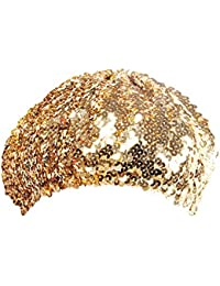 729d924d8eb1d ... Gold. TOOKY Sparkle Sequine Adjustable Beanie Beret Hat Dancing Tam Cap  Silver