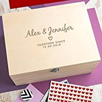Personalised Wedding Anniversary Gift Keepsake Box/Memory Box - 3 Wooden Boxes to Choose From! / Personalised anniversary gift
