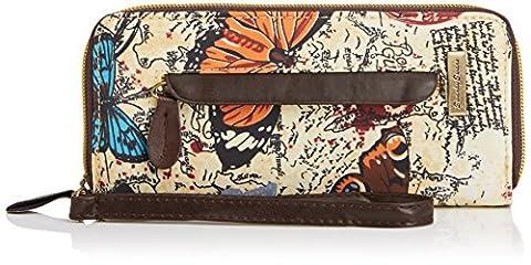 SwankySwans Atlantis Butterfly Map Print Zipper, Portefeuille femme - beige - Beige (Beige), Taille unique