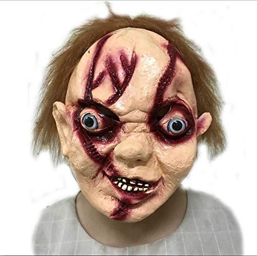 YWJ Halloween Horror Maske, Scary Mask, Zombie Novelty Mask Anzug für Halloween