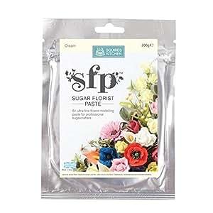 Squires Kitchen SFP Artisanat Sucre Floral Pâte à Modeler Comestible Pour Décoration de Gâteau 200g - Crème
