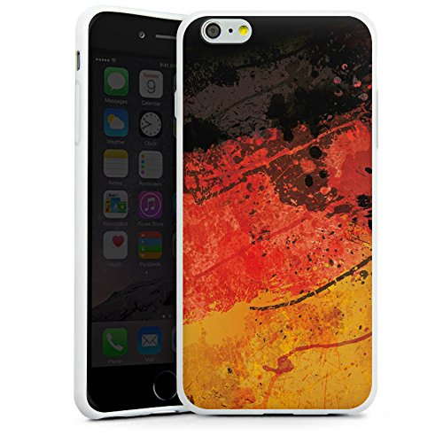Apple iPhone X Silikon Hülle Case Schutzhülle Deutschlandflagge Deutschland Flagge Germany Silikon Case weiß