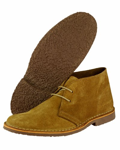 Cotswold Mens Kalahari Lace Up Suede Leather Desert Boots Navy Marron - Rootbeer